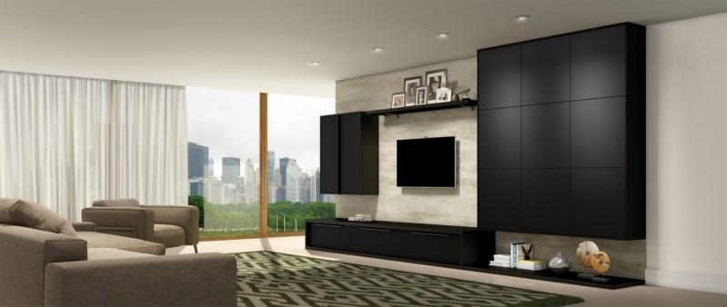 Painel Home Theater Planejado Barato Campo Grande - Painel para Home Theater Planejado