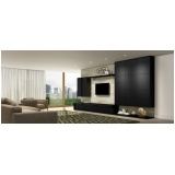 home theater planejado clean Brooklin